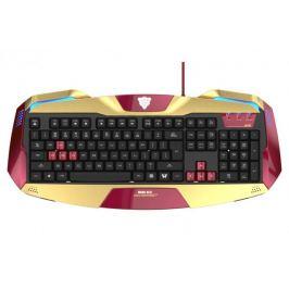 E-Blue klávesnice IRON MAN 3, herní, zlatá, drátová (USB), US