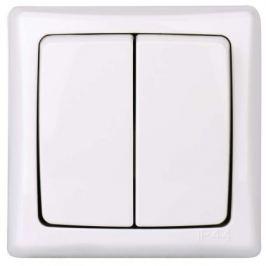 Vypínač ZaRa dvojitý bílý 4FN58132/S IP44