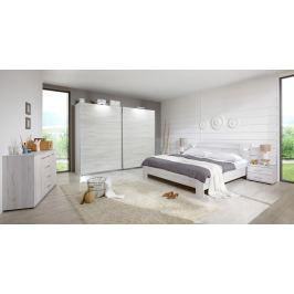 Vicenza - Komplet velký, postel 160 cm (dub bílý)