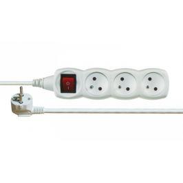 Prodlužovací kabel bílý s vypínačem 3 zásuvky 10m
