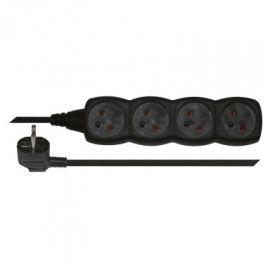 Prodlužovací kabel 3m 4 zásuvky černý