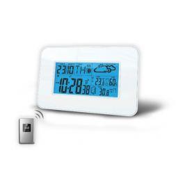 Solight meteostanice,velký LCD,teplota,vlhkost,RCC,bílá,TE66