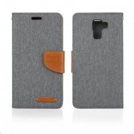 Aligator pouzdro BOOK FANCY pro Samsung Galaxy J1, šedá PBOFAJ1GY