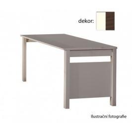Jette - Stůl (bílá, kolumbijský ořech)