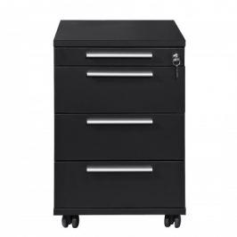 Work - Kontejner, 4x zásuvka (černá)