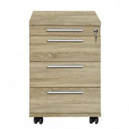 Work - Kontejner, 4x zásuvka (dub)