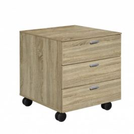 Work - Kontejner, 3x zásuvka (dub)