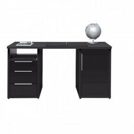 Work - Stůl, 3x zásuvka, skříňka, 1x police (antracit)