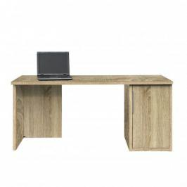 Work - Stůl, skříňka, 1x police, 160x74x70 (dub)