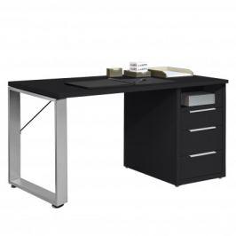 Work - Stůl, 3x zásuvka (antracit)