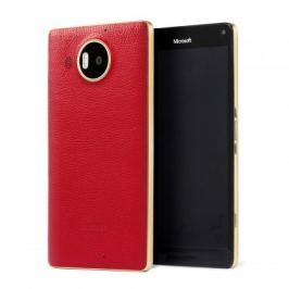 MOZO zadní kryt pro Lumia 950 XL Červená kůže
