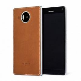 Mozo kryt kožený (bezdrát.nabíj.) pro Lumia950XL,hnědá/stříbrná
