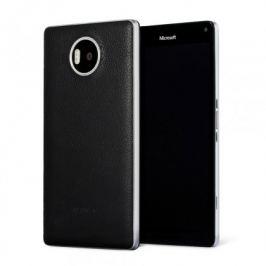 Mozo kryt kožený (bezdrát.nabíj.) pro Lumia950XL,černá/stříbrná