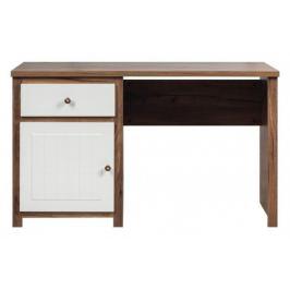 Psací stůl (dub, bílá mat)