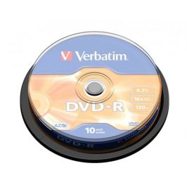 Verbatim DVD-R 16x, 10ks cakebox (43523)