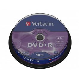 Verbatim DVD+R 16x, 10ks CakeBox (43498)