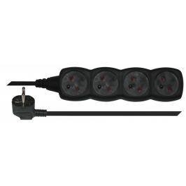 Prodlužovací přívod 4 zásuvky 5m černý PC0415