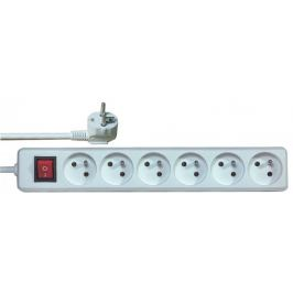 Prodlužovací přívod s vypínačem 6 zásuvek 3m Prodlužovačky