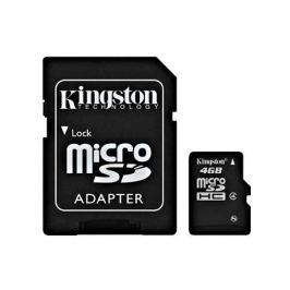 Kingston Micro SDHC 4GB Class 4 + adaptér - SDC4/4GB