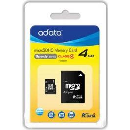 A-Data micro SDHC 4GB class 4 + adaptér