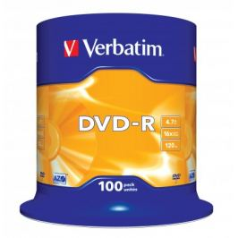 Verbatim DVD-R 16x, 100ks cakebox (43549)