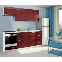 Mondeo - kuchyňský blok B 220 cm (pracovní deska - mramor)