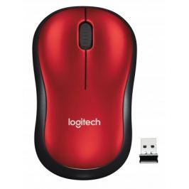 Logitech Wireless Mouse M185, červená