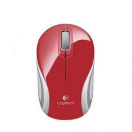 Logitech myš Wireless Mini Mouse M187 red, nano přijímač