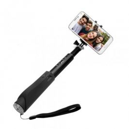 Teleskopická selfie tyč FIXED s BT spouští, černá