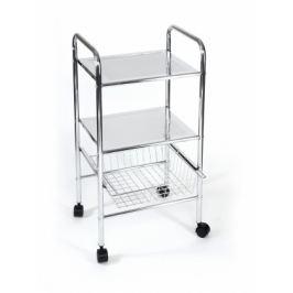 Koupelnový vozík, 73,5 cm (chrom)