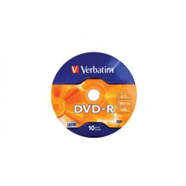 Verbatim DVD-R 4,7GB 16x, 10ks. (43729)