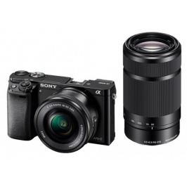 Sony Alpha 6000, 16-50mm + 55-210mm, Black (ILCE6000YB.CEC)
