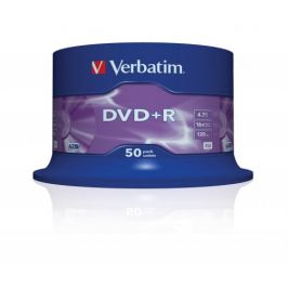 Verbatim DVD+R 16x, 50ks cakebox (43550)
