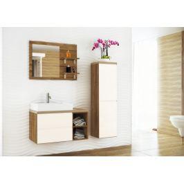 Genova - koupelnová sestava s 1 umyvadlem, bez baterie, bez sifonu, 1 zrcadlo