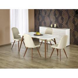 Richard - Jídelní stůl 150-190x90 cm (bílý lak, antická třešeň)