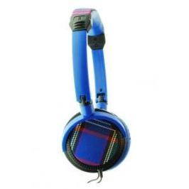 QMCWS04XXC  Colour your world, TARTAN, sluchátka, modrá, 3.5mm ko