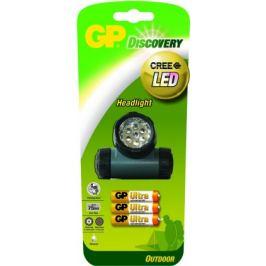 LED čelovka GP LOE205 + 3 x AAA baterie GP Ultra