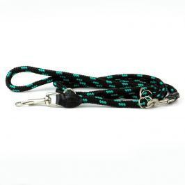 Zopet Černo-zelené přepínací vodítko pro psa z lana | 220 cm