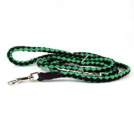 Zopet Zeleno-černé zapetené přepínací vodítko pro psa z lanka | 220 cm