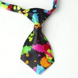 Barevná kravata pro psa Černá