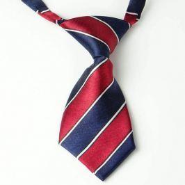 Modro-červená kravata pro psa s proužky