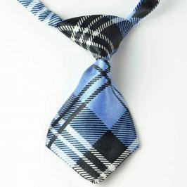 Černo-modrá károvaná kravata pro psa