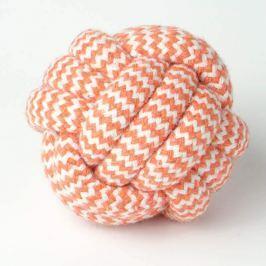 Zopet Bílo-oranžový zapletený míček | 7 cm