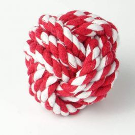 Zopet Zapletená koule červeno-bílá | 7 cm