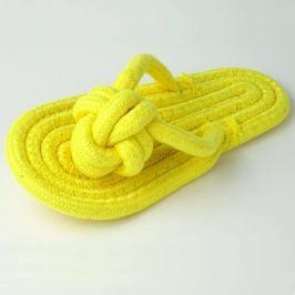 Zopet Žlutá aportovací pantofle pro psa | 20 cm