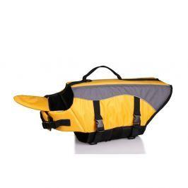 Žlutá plovací vesta pro psa 35 cm