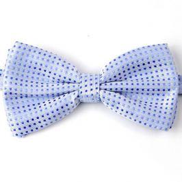 Světle modrý motýlek pro psa s puntíky