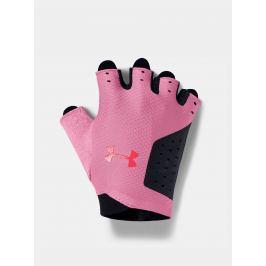Růžové dámské tréninkové rukavice Under Armour