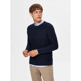Tmavě modrý svetr Selected Homme