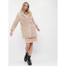 Světle hnědý kabát z umělé kožešiny M&Co